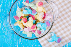 Colorful neon gummy candies Stock Images