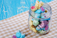 Colorful neon gummy a cow candies Royalty Free Stock Images