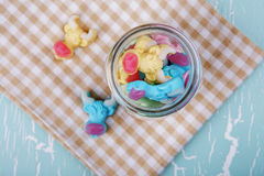 Colorful neon gummy a cow candies Royalty Free Stock Photo