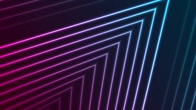 Colorful neon laser lines abstract futuristic geometric motion background