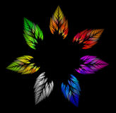 Colorful neon leaves Stock Photography