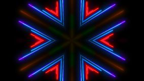 Colorful neon light. Abstract digital backdrop. 3d rendering Stock Photo