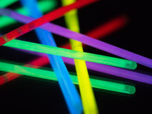 Colorful neon light. On black background Stock Photo