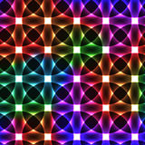 Colorful neon light circles - seamless background Stock Photography