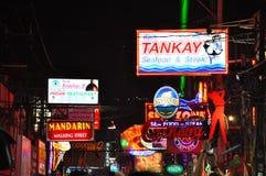 Colorful neon light at Pattaya night walking street, Thailand Stock Photography