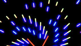 Colorful Neon Lights Clip 5 of 15 stock video footage