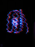 Colorful neon lights. Derived from the movement of lights Royalty Free Stock Photos