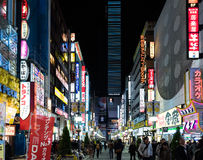 Colorful neon street signs in Shinjuku, Tokyo, Japan. Tokyo, Japan - December 6, 2015: Colorful neon street signs in Shinjuku, Tokyo, Japan Royalty Free Stock Photos
