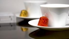 Colorful Nespresso capsules for a single coffee