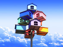 Colorful nesting boxes Royalty Free Stock Photos