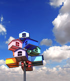 Colorful nesting boxes Royalty Free Stock Images