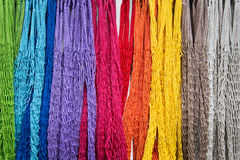 Colorful nets on a market Stock Image