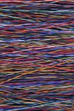 Colorful network cable and wire Stock Photography