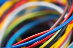 Colorful network cables Royalty Free Stock Image