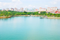 Colorful new buildings and putra Lake Royalty Free Stock Image