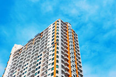 Colorful new condominium  with blue sky Royalty Free Stock Photography