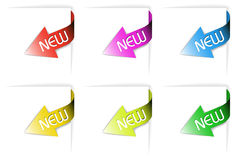 Colorful new corner ribbons set Royalty Free Stock Image