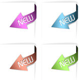 Colorful new corner ribbons set Royalty Free Stock Photos