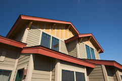 Colorful New Home Construction. Abstract Stock Photography