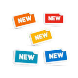 Colorful New Labels, Tags Set Royalty Free Stock Photo