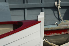 Colorful new Skiffs Stock Photography