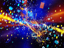 Colorful new technology explosion Royalty Free Stock Photo