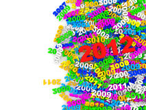 Colorful New Year 2012 Royalty Free Stock Photography