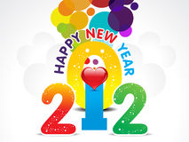 Colorful new year background with heart Royalty Free Stock Photos