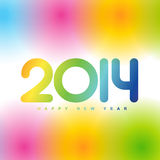Colorful 2014 new year. Beautiful colorful happy new year 2014 design Stock Photo