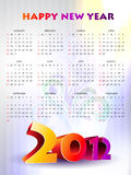 Colorful new year calender Royalty Free Stock Photos