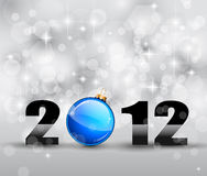 Colorful New Year Celebration Background. With Glitter and Blue Bauble Stock Photography