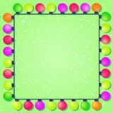 Colorful New Year and Christmas Bulb Frame Royalty Free Stock Photography