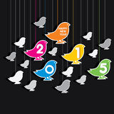 Colorful new year 2015 design. Creative happy new year 2015 design birds theme Royalty Free Stock Photo