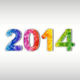 Colorful New year 2014 Royalty Free Stock Images
