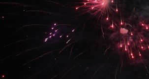 Colorful new year fireworks. Over dark sky royalty free stock images