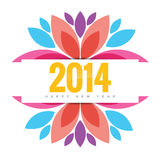 Colorful new year. Colorful happy new year design illustration vector illustration