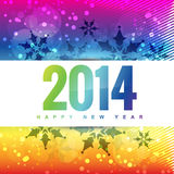 Colorful 2014 new year. Colorful happy new year style background Royalty Free Stock Image