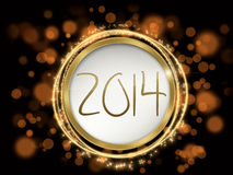 Colorful new year 2014 text Stock Photography
