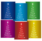Colorful New Year Trees Royalty Free Stock Photography