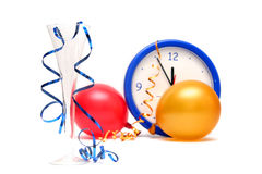 Colorful New Years Eve stock photos