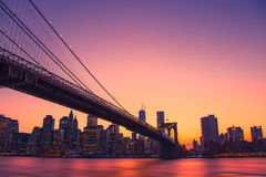 Colorful New York City Skyline Royalty Free Stock Photography