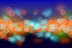 Colorful night bokeh blurs background Royalty Free Stock Photography