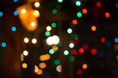 Colorful night bokeh. Colorful bokeh night, Christmas night, Christmas lights, holiday feeling Royalty Free Stock Photos