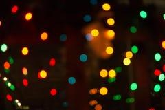 Colorful night bokeh. Colorful bokeh night, Christmas night, Christmas lights, holiday feeling Stock Image