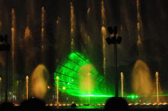 Colorful night fountains in Lima Peru. Stock Photography