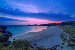 Colorful night landscape of famous Oldshoremore beach in Norther Royalty Free Stock Photos