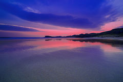 Colorful night landscape of famous Oldshoremore beach in Norther Royalty Free Stock Photo