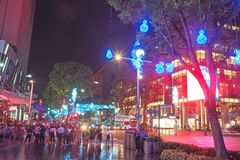Night life at Orchard Road, Singapore, December,2018.