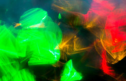 Colorful night lights bokeh over dark background Royalty Free Stock Photos