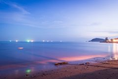 Colorful night sea Royalty Free Stock Image